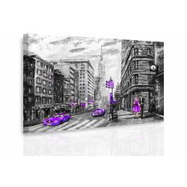InSmile ® Obraz - Malovaný New York III. Velikost: 120x80 cm