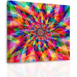 InSmile ® Obraz - Mozaika květu Velikost: 60x60 cm