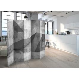 Murando DeLuxe Paraván betonová geometrie Velikost: 225x172 cm