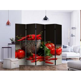 Murando DeLuxe Paraván červená kuchyně Velikost: 225x172 cm