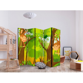 Paraván džungle - opice II Velikost: 225x172 cm