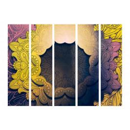 Murando DeLuxe Paraván květinový límec - žlutý Velikost: 225x172 cm