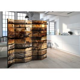 Murando DeLuxe Paraván přírodní dřevo II Velikost: 225x172 cm