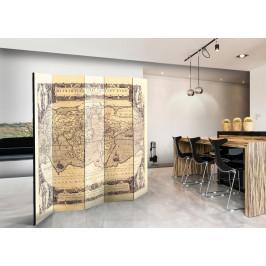 Murando DeLuxe Paraván starodávná mapa II Velikost: 225x172 cm