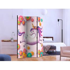 Murando DeLuxe Paraván zamilovaný jednorožec II Velikost: 135x172 cm