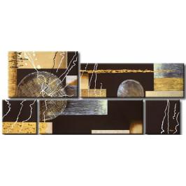Murando DeLuxe Pětidílné obrazy - bronzová koule Velikost: 109x49 cm
