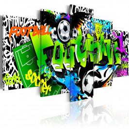 Murando DeLuxe Pětidílné obrazy - fotbalové graffiti Velikost: 200x100 cm