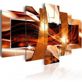 Murando DeLuxe Pětidílné obrazy - oheň života Velikost: 200x100 cm