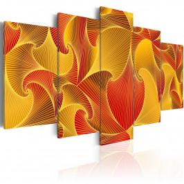 Murando DeLuxe Pětidílné obrazy - řeka ohně Velikost: 200x100 cm