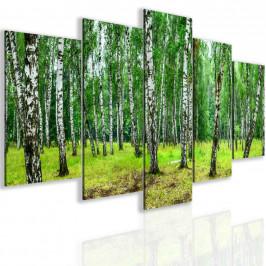 InSmile ® Pětidílný obraz březový háj Velikost: 150x75 cm