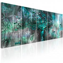Murando DeLuxe Pětidílný obraz - modrý strom I. Velikost: 225x90 cm