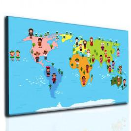 InSmile ® Světová mapa pro děti Velikost: 80x50 cm