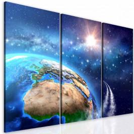 InSmile ® Třídílný obraz vesmírná mise Velikost: 60x50 cm