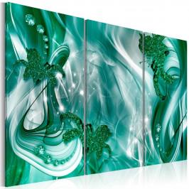 Murando DeLuxe Třídílný obraz - zelený prach Velikost: 90x60 cm