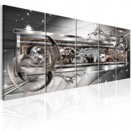 Murando DeLuxe Vícedílný obraz - stříbrný lesk Velikost: 225x90 cm