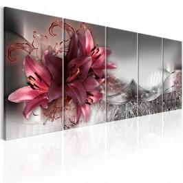 Murando DeLuxe Obraz - abstraktní lilie II Velikost: 225x90 cm