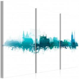 Murando DeLuxe Vícedílný obraz - modré město Velikost: 135x90 cm