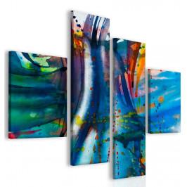 InSmile ® Modrá abstrakce Velikost: 110x90 cm