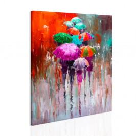 InSmile ® Obraz procházka v dešti II Velikost: 90x110 cm