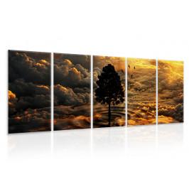 InSmile ® Vícedílný obraz - Voda a vzduch Velikost (šířka x výška): 120x30 cm