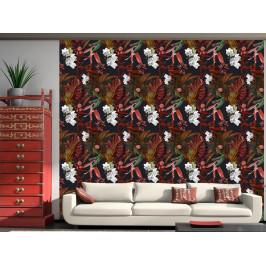 Murando DeLuxe Exotické noční květy Klasické tapety: 49x1000 cm - samolepicí