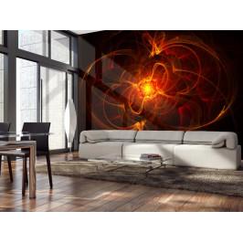 Murando DeLuxe Tapeta abstraktní oheň Rozměry (š x v) a Typ: 147x116 cm - samolepící