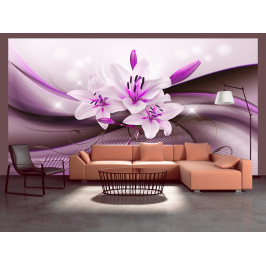 Murando DeLuxe Fialová elegantní lilie Rozměry (š x v) a Typ: 147x105 cm - samolepící