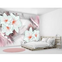 Murando DeLuxe Růžové lilie Rozměry (š x v) a Typ: 147x105 cm - samolepící