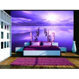 Murando DeLuxe Tapeta fialové jezero Rozměry (š x v) a Typ: 147x105 cm - samolepící