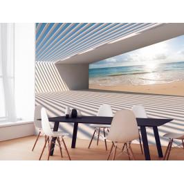 Murando DeLuxe 3D tapeta - Cesta k pláži Rozměry (š x v) a Typ: 147x105 cm - samolepící
