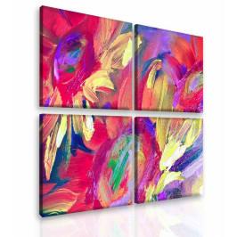 InSmile ® Obraz malba slunečnice II Velikost (šířka x výška): 40x40 cm