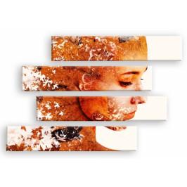 InSmile ® Obraz tvář podzimu Velikost: 170x100 cm