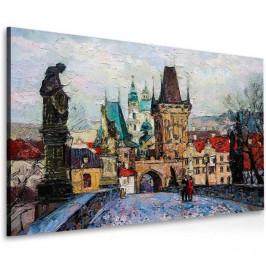 InSmile ® Obraz procházka po Karlově mostě Velikost (šířka x výška): 45x30 cm