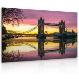 InSmile ® Obraz Londýnský Tower Bridge II Velikost: 90x60 cm
