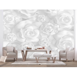Murando DeLuxe Bílé růže 3D tapeta Rozměry (š x v) a Typ: 147x105 cm - samolepící