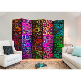 Murando DeLuxe Paraván barevná abstrakce Velikost: 225x172 cm
