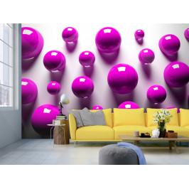 Murando DeLuxe 3D tapeta fialové koule Rozměry (š x v) a Typ: 300x210 cm - vliesové