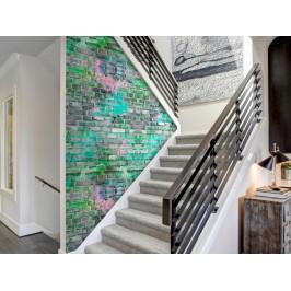 Murando DeLuxe Neonová cihlová zeď Klasické tapety: 49x1000 cm - samolepicí