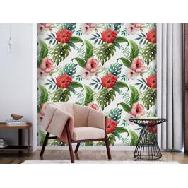 Murando DeLuxe Tropické květy Klasické tapety: 49x1000 cm - samolepicí