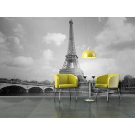 Murando DeLuxe Eiffelova věž černobílá tapeta Rozměry (š x v) a Typ: 147x116 cm - samolepící