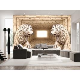 Murando DeLuxe 3D tapeta lví strážci Rozměry (š x v) a Typ: 300x210 cm - vliesové
