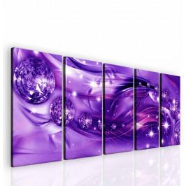 InSmile ® Obraz hvězdný prach fialový Velikost: 150x60 cm