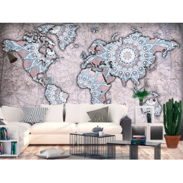 Murando DeLuxe Tapeta mapy světa mandala Rozměry (š x v) a Typ: 147x105 cm - samolepící