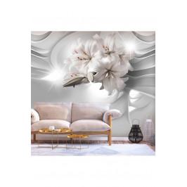 Murando DeLuxe 3D tapeta elegantní lilie Rozměry (š x v) a Typ: 147x105 cm - samolepící