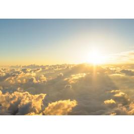 InSmile ® Tapeta Západ slunce nad mraky Vel. (šířka x výška): 144 x 105 cm