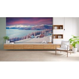 InSmile ® Tapeta Horská zimní krajina Vel. (šířka x výška): 144 x 105 cm