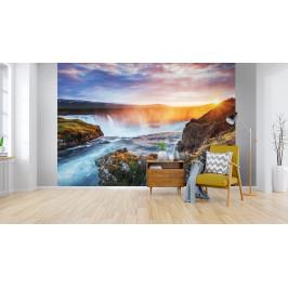 InSmile ® Tapeta Vodopád Goðafoss Vel. (šířka x výška): 144 x 105 cm