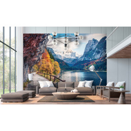 InSmile ® Tapeta Alpské jezero Gosausee Vel. (šířka x výška): 144 x 105 cm