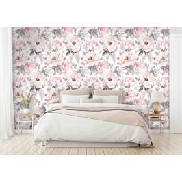 InSmile ® Tapeta květinový vzor růžová Vel. (šířka x výška): 144 x 105 cm
