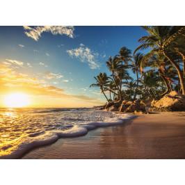 InSmile ® Tapeta Pláž při západu slunce Vel. (šířka x výška): 144 x 105 cm